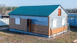Строительство каркасного дома 54м2 на винтовых сваях(На видео показаны все этапы строительства каркасного дома компанией
