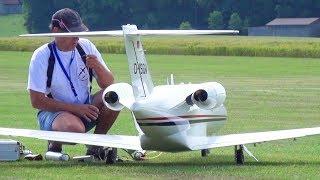 CESSNA CITATIONJET HUGE RC C-525 SCALE MODEL TURBINE JET FLIGHT DEMONSTRATION