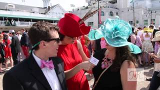 Kentucky Derby Fan Fashion, Hats and Bow Ties with Fashion at the Races