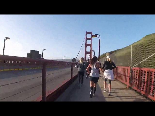 Running under the Golden Gate Bridge - SF Rock and Roll Half Marathon 2018
