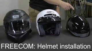FREECOM- Helmet installation