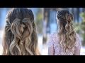 Half Up Heart Bun | Valentine's Day Hairstyle | Cute Girls Hairstyles