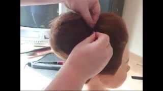 Как сделать супер объемный пучок на голове