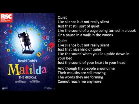 Quiet - Matilda the Musical backing track with lyrics