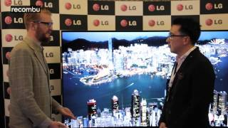 LG's curved 4K Ultra HD OLED TV - a world first