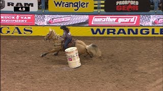 Hailey Kinsel 13.43 Seconds BARREL RACING Round 9 | NFR 2017 Interviews
