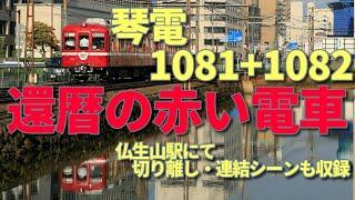 【還暦の赤い電車】琴電 還暦の赤い電車 運転【京急】