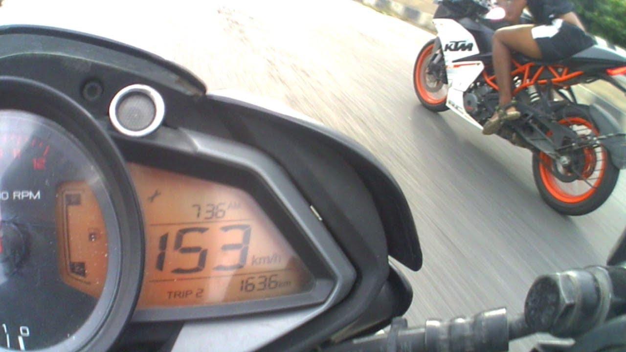 PULSAR RS 200 vs KTM DUKE 390 | STREET RACE | - YouTube