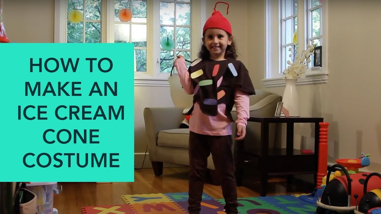 How To Make An Ice Cream Cone Costume Easy Diy Halloween
