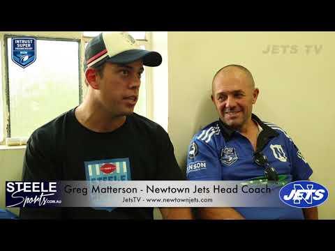 Post Match Interview - Rnd 5 ISP 2018 - Newtown Jets Greg Matterson