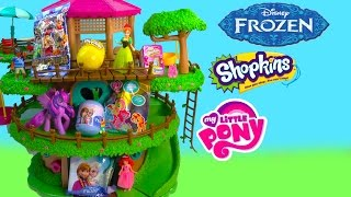 MLP Shopkins Season 2 Blind Bag Surprise Mystery Egg Chocolate Disney Frozen Unboxing Treehouse