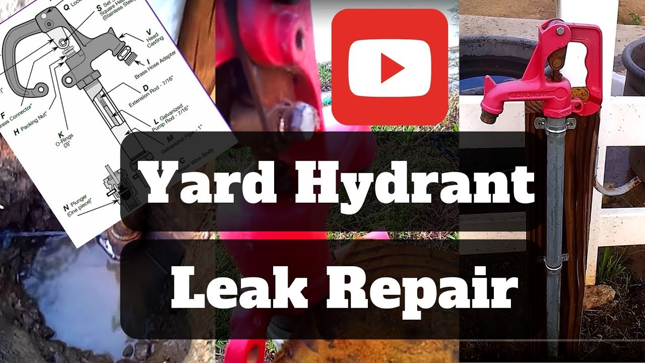 Frost Free Yard Hydrant Leak Repair - YouTube
