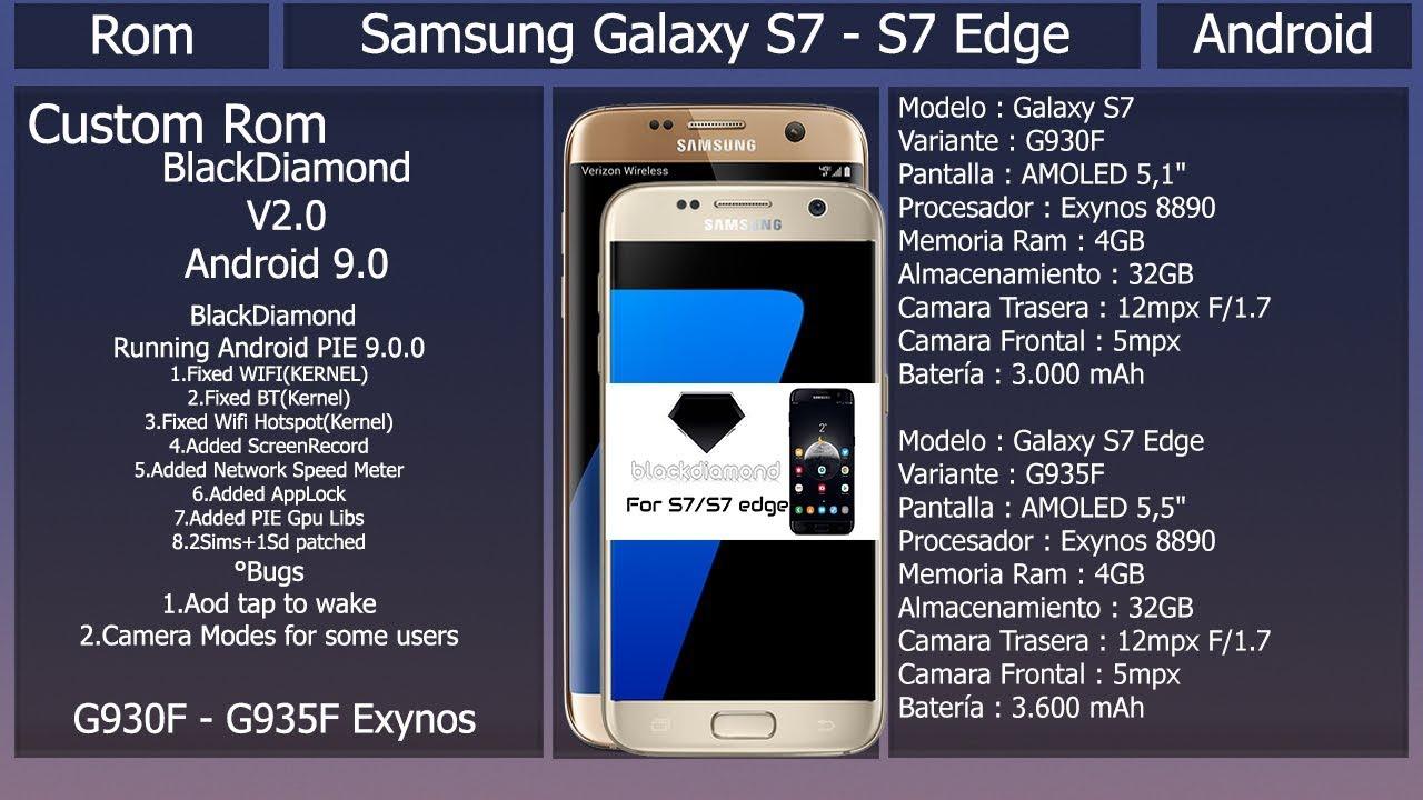 Rom BlackDiamond V2 - Android 9 0 - Samsung Galaxy S7/S7 Edge