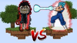 ILHA DO VEGETTO BLUE KAIOKEN VS ILHA DO CUMBER no MINECRAFT!! (DRAGON BALL HEROES)