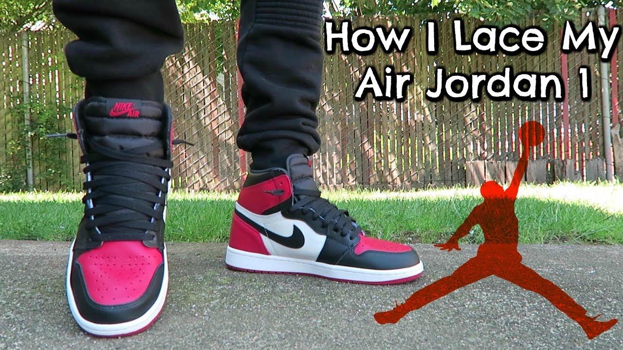 How I Lace My Air Jordan 1 - YouTube