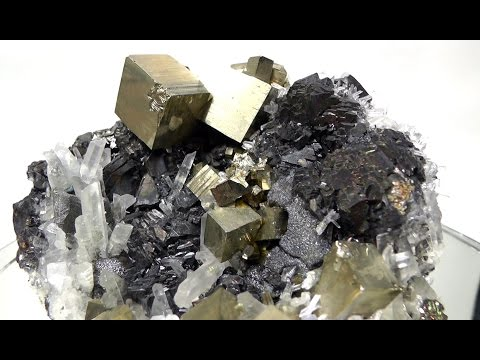 MY ROCKS - PYRITE and Quartz Crystals with Galena