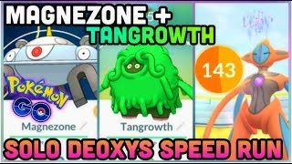 MAGNEZONE & TANGROWTH IN POKEMON GO   DEOXYS SPEED RUN 144 SECONDS LEFT