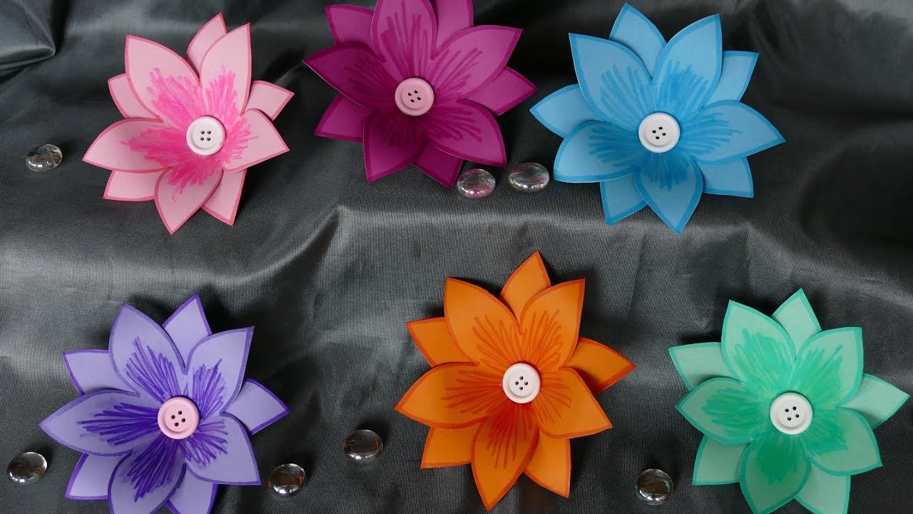 Blumen Basteln Basteln Mit Papier Wohndeko Basteln Einfach