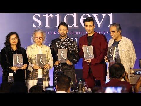 SRIDEVI The Eternal Screen Goddess Book Launch | Karan Johar, Satyarth | COMPLETE EVENT