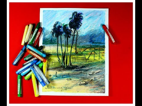 most wonderful  landscape pastel painting  /Pastel Painting |Oil Pastel Landscape Drawing