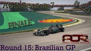 F1 2013 - AOR Season 7 - Round 15: Brazilian Grand Prix
