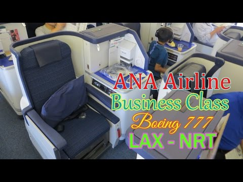 ANA All Nippon Airways Business Class B777 Los Angeles to Narita