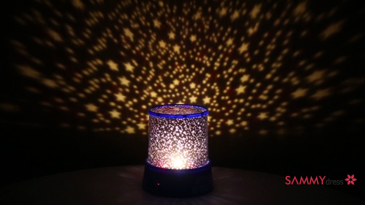 The rotation of the creative projection light color led small night light romantic gift