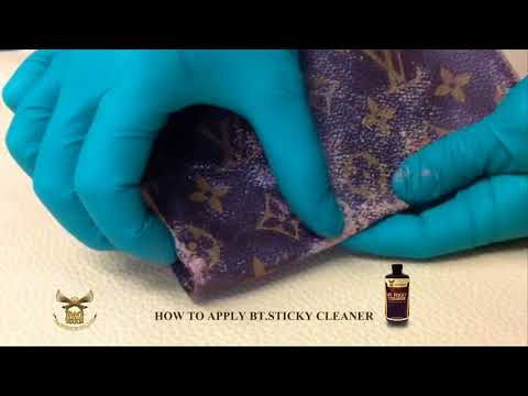 HOW TO CLEAN STICKY FEEL ON BAG
