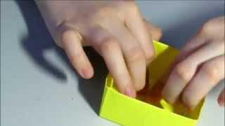 КОРОБОЧКА ИЗ БУМАГИ/ОРИГАМИ/мастер-класс(Как сделать коробочку из бумаги за 5 минут? -Легко и просто! Эта коробочка может пригодиться за всяких мелки..., 2014-06-08T20:24:45.000Z)