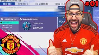 YES!! MANCHESTER UNITED SIGNED US! $57 MILLION DEAL! FIFA 19 Career Mode