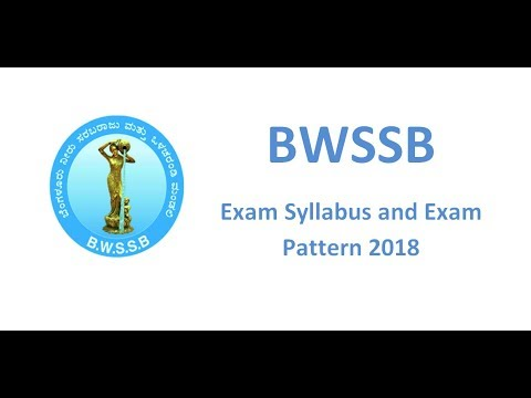 BWSSB Exam Syllabus 2018, AE, JE, Meter Reader Exam Pattern and Question Papers PDF