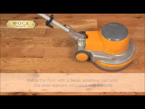 Application of Woca Master Oil for wood flooring