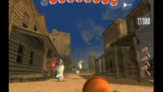 Rayman Raving Rabbids- Bunnies helped tame the wild west