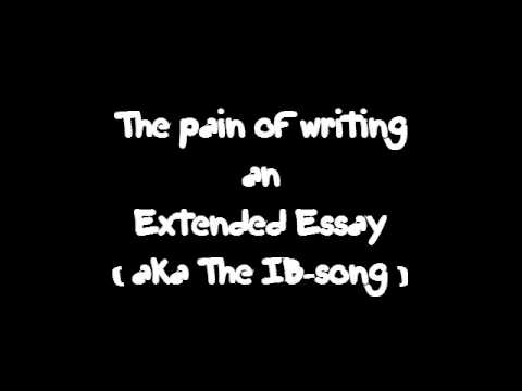 how to structure an extended essay