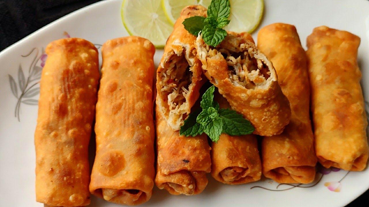 আটা দিয়ে তৈরি সবচেয়ে সহজ চিকেন রোল রেসিপি। chicken roll recipe। রোল রেসিপি। বিকেলের নাস্তা রেসিপি।