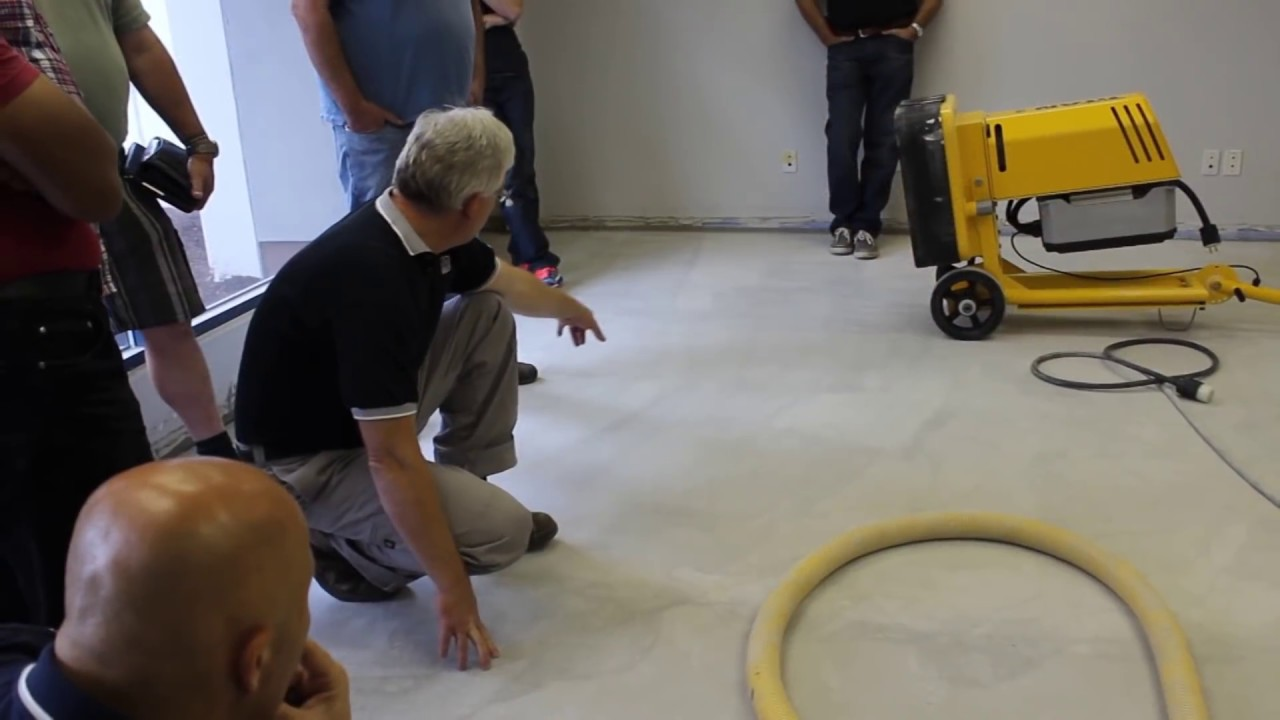 How to Polish ARDEX PCT Concrete Topping  YouTube