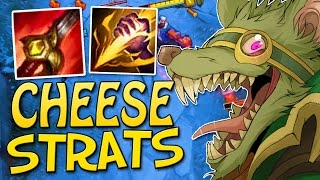 OP CHEESE STRATS - Twitch Jungle Gameplay - League of Legends Season 7