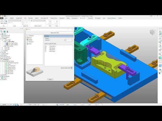 Enhanced Setups - PowerMill 2019.1 Update