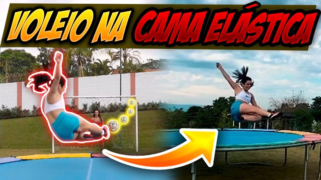 GOLAÇO DE VOLEIO na CAMA ELÁSTICA!!!