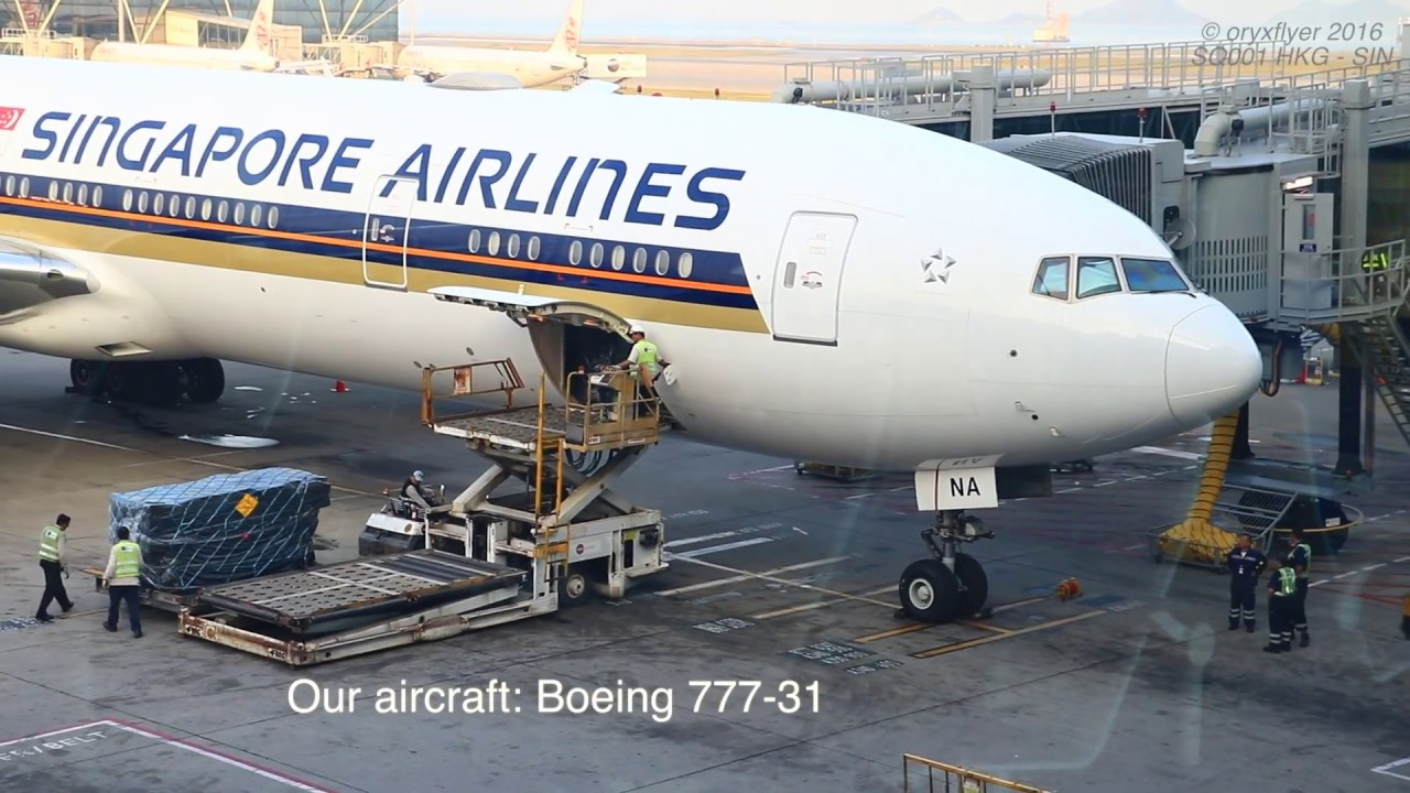 Singapore Airlines Boeing 777-300ER Economy Class Review - Hong Kong ...