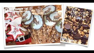 Moose Munch & Reindeer Food Treat Bags & Tag Featuring Stampin Up