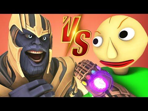 Baldi vs Thanos - The Movie (All Episodes Official Compilation Avengers: Endgame Prank 3D Animation)