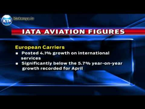 Global air travel slows