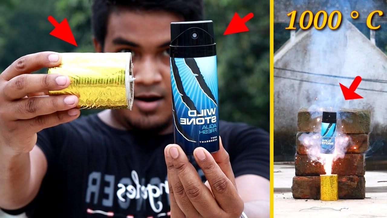 বডি স্প্রে vs তুবড়ি - Experiment with Body spray and anaar | EXPERiMENTAL |