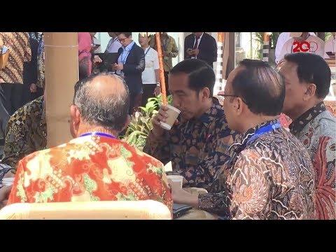 Jokowi Mencicipi Kopi Solidaritas di IMF-World Bank
