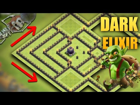 TH 9 (Town Hall 9) The Best Dark Elixir Base 2017 | Tested + Proof Replays | Clash Of Clans