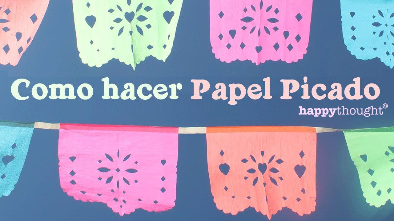 hacer banderines de papel Como Hacer Papel Picado Para Dia De Los Muertos