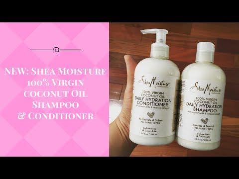 NEW! Shea Moisture 100% Virgin Coconut Oil Shampoo and Conditioner!