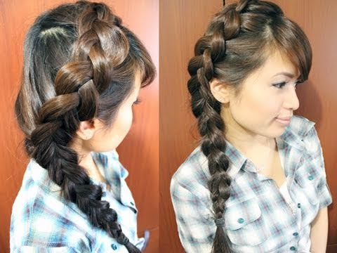 How to: Side Dutch Braid Hairstyle for Medium Long Hair Tutorial