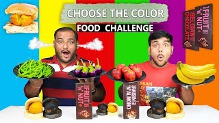 CHOOSE THE COLOR FOOD EATING CHALLENGE | Color Food Eating Competition | Food Challenge